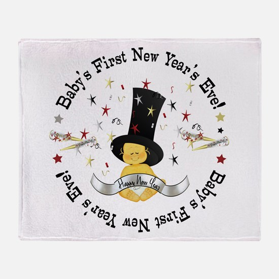 Baby's 1st New Year Throw Blanket
