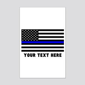 Thin Blue Line Flag Mini Poster Print