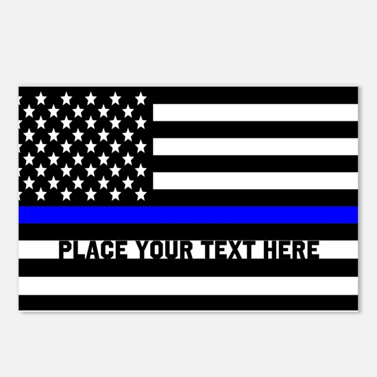 Thin Blue Line Flag Postcards (Package of 8)