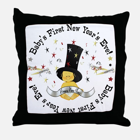 Baby's 1st New Year Throw Pillow