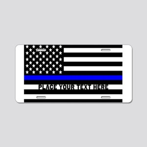 Thin Blue Line Flag Aluminum License Plate