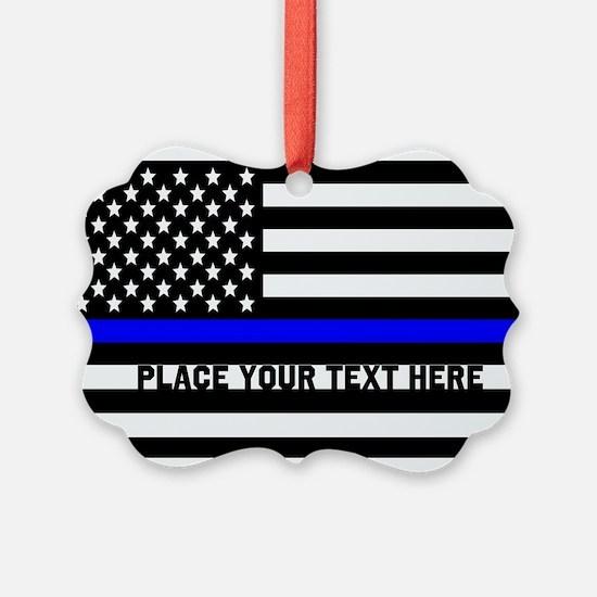 Thin Blue Line Flag Ornament