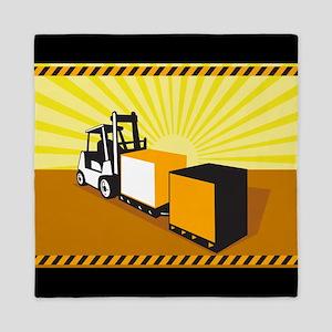 Forklift Truck Materials Handling Retro Queen Duve