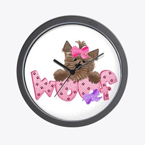 Yorkiegirl Woof Wall Clock