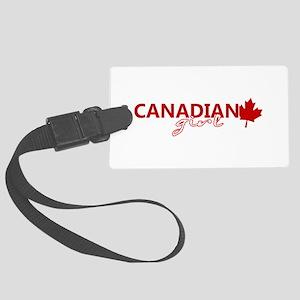 Canadian Girl Large Luggage Tag