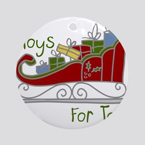 Toys for Tots Sleigh Ornament (Round)