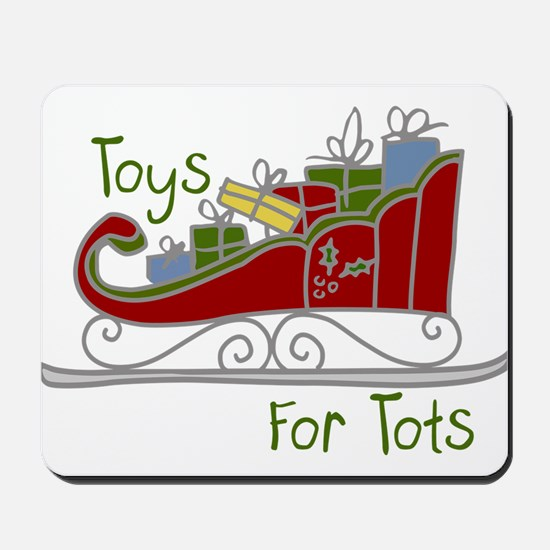 Toys for Tots Sleigh Mousepad