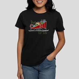 Toys for Tots Sleigh Women's Dark T-Shirt