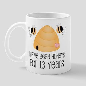 13th Anniversary Honey Mug