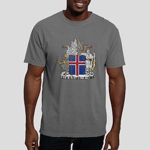Iceland Coat of Arms woo Mens Comfort Colors Shirt