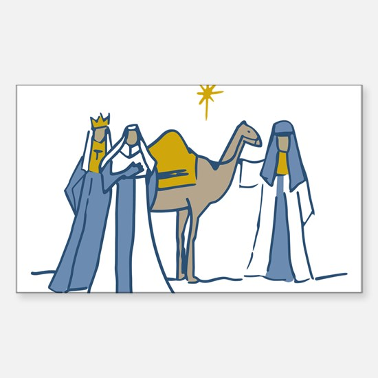 Three Kings Sticker (Rectangle)