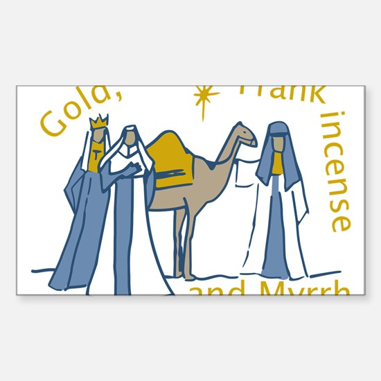 Three Kings Gifts Sticker (Rectangle)