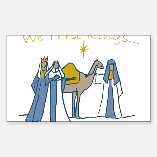 We Three Kings Sticker (Rectangle)