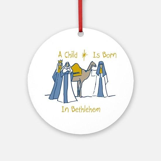 Bethlehem Kings Ornament (Round)