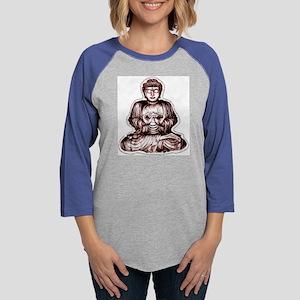 buddha Womens Baseball Tee
