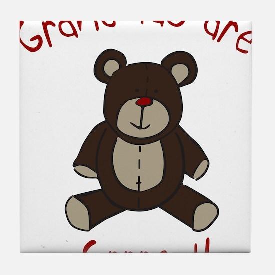 Grandma Teddy Bear Tile Coaster