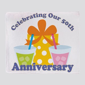 50th Anniversary Party Gift Throw Blanket