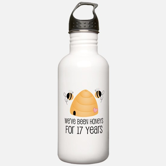 17th Anniversary Honey Water Bottle