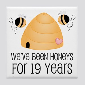 19th Anniversary Honey Tile Coaster