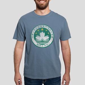 Macau Coat of Arms wood. Mens Comfort Colors Shirt
