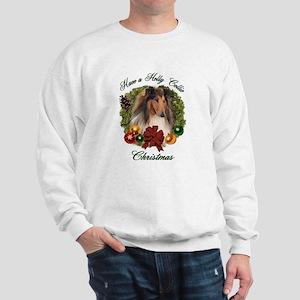 Holly Collie Christmas Sweatshirt