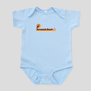 Savannah Beach GA - Beach Design. Infant Bodysuit
