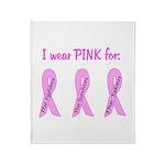Pink Fighters Survivors Taken Throw Blanket