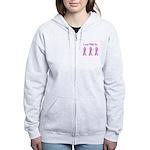 Pink Fighters Survivors Taken Women's Zip Hoodie