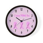 Pink Fighters Survivors Taken Wall Clock