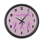Pink Fighters Survivors Taken Large Wall Clock