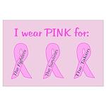 Pink Fighters Survivors Taken Large Poster