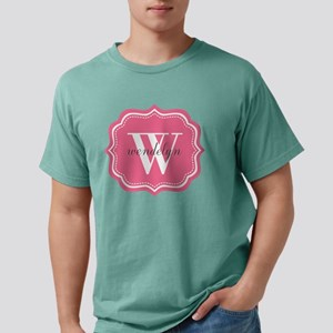 Pink Custom Personalized Mens Comfort Colors Shirt