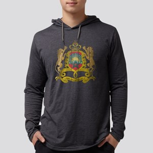 Morocco Coat of Arms wood Mens Hooded Shirt