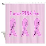 Pink Fighters Survivors Taken Shower Curtain