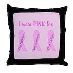 Pink Fighters Survivors Taken Throw Pillow