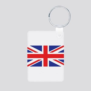 United Kingdom Union Jack Aluminum Photo Keychain
