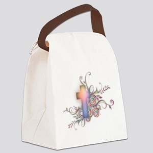Colorful Cross Canvas Lunch Bag
