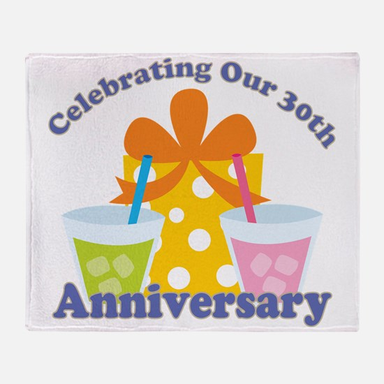 30th Anniversary Party Throw Blanket