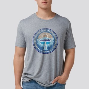 National Kyrgyzstan Coat of Mens Tri-blend T-Shirt