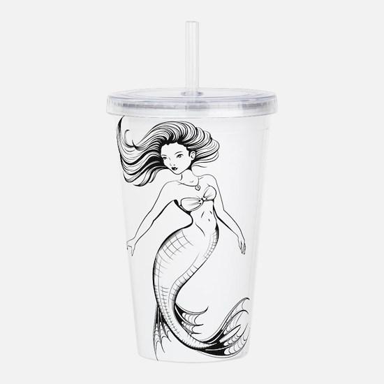 mermaid Acrylic Double-wall Tumbler