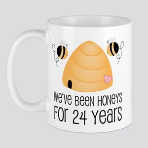 24th Anniversary Honey Mug