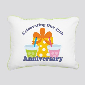 37th Anniversary Party Gift Rectangular Canvas Pil