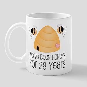28th Anniversary Honey Mug