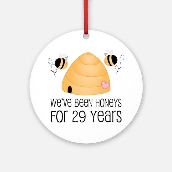 29th Anniversary Honey Ornament (Round)