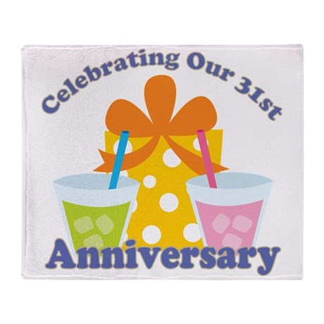 31st Anniversary Party Gift Throw Blanket