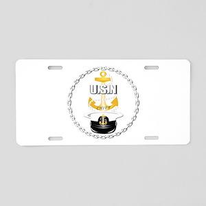 Navy - CPO - Chief Hat Aluminum License Plate