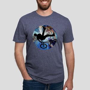 BMX in Grunge Tunnel Mens Tri-blend T-Shirt