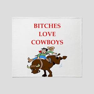 cowboy Throw Blanket