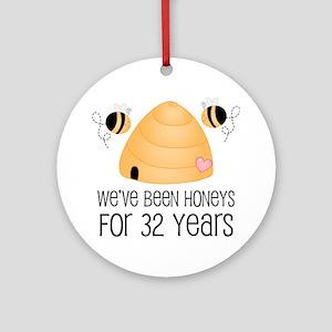 32 Year Anniversary 32nd Honey Ornament Round