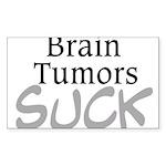 Brain Tumors Suck Sticker (Rectangle)